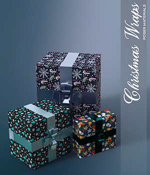 Poser - Christmas Wraps 2D Graphics Merchant Resources Atenais