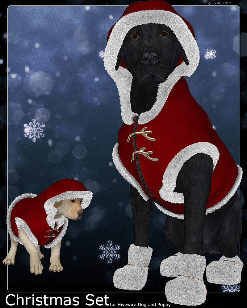 Christmas Set for HW BigDog and Puppy by Karth