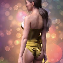 X-Fashion Sexy Santa Bodysuit for Genesis 8 Female(s) image 2