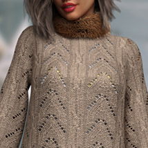 Chunky Sweater for the Genesis 8 Females image 3