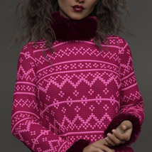 Chunky Sweater for the Genesis 8 Females image 5