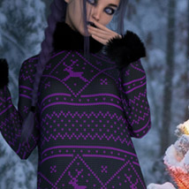 Chunky Sweater for the Genesis 8 Females image 6