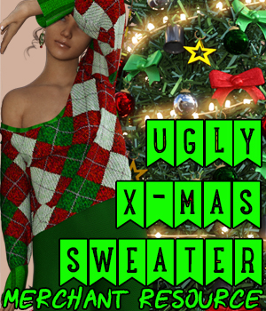 Ugly Christmas Sweater Merchant Resource 2D Graphics Merchant Resources creativechaos