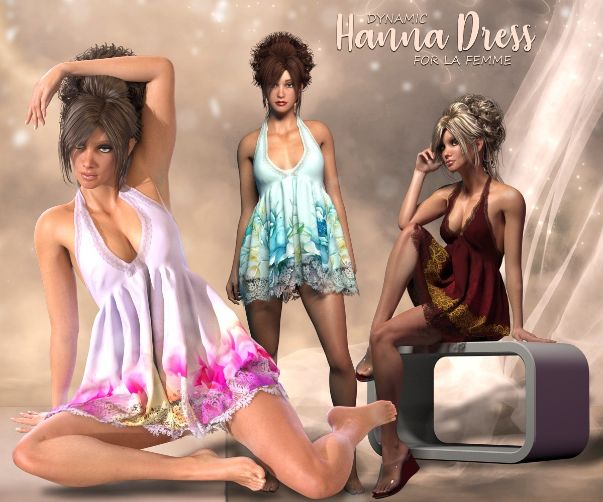 Hanna Dress - dynamic for La Femme by RPublishing