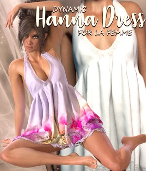 Hanna Dress - dynamic for La Femme 3D Figure Assets La Femme - LHomme Poser Figures RPublishing