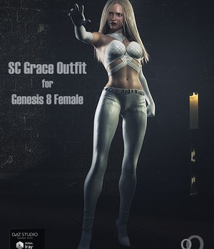 SC Grace Outfit for Genesis 8 Female 3D Figure Assets secondcircle