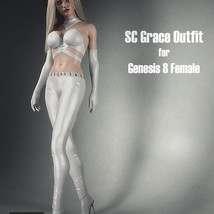 SC Grace Outfit for Genesis 8 Female image 3