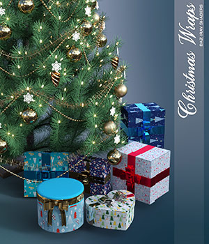 Daz Iray - Christmas Wraps 2D Graphics 3D Figure Assets Merchant Resources Atenais