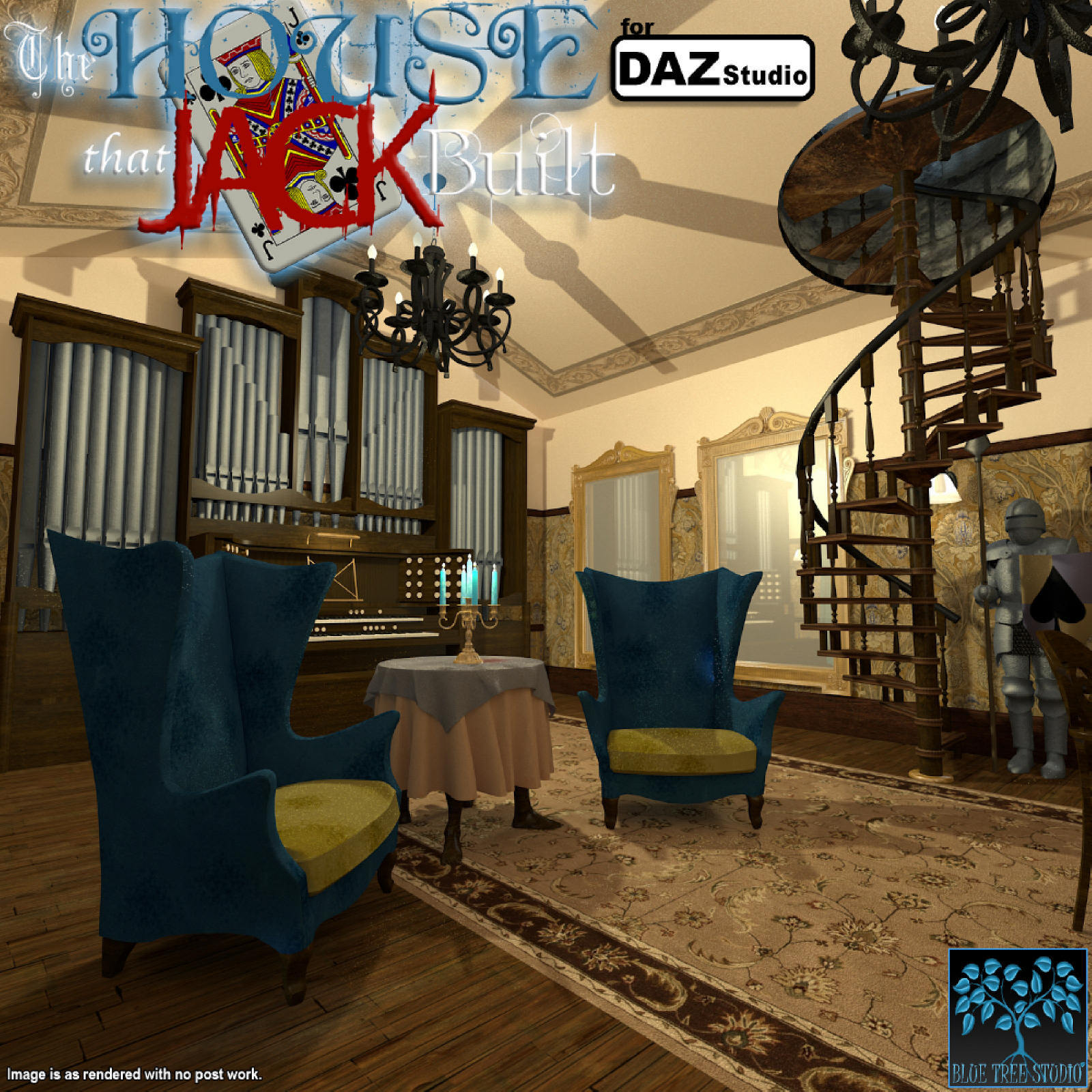 The House That Jack Built for Daz|Studio by BlueTreeStudio