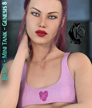 Basics - Mini Tank Top - Genesis 8 3D Figure Assets kaleya