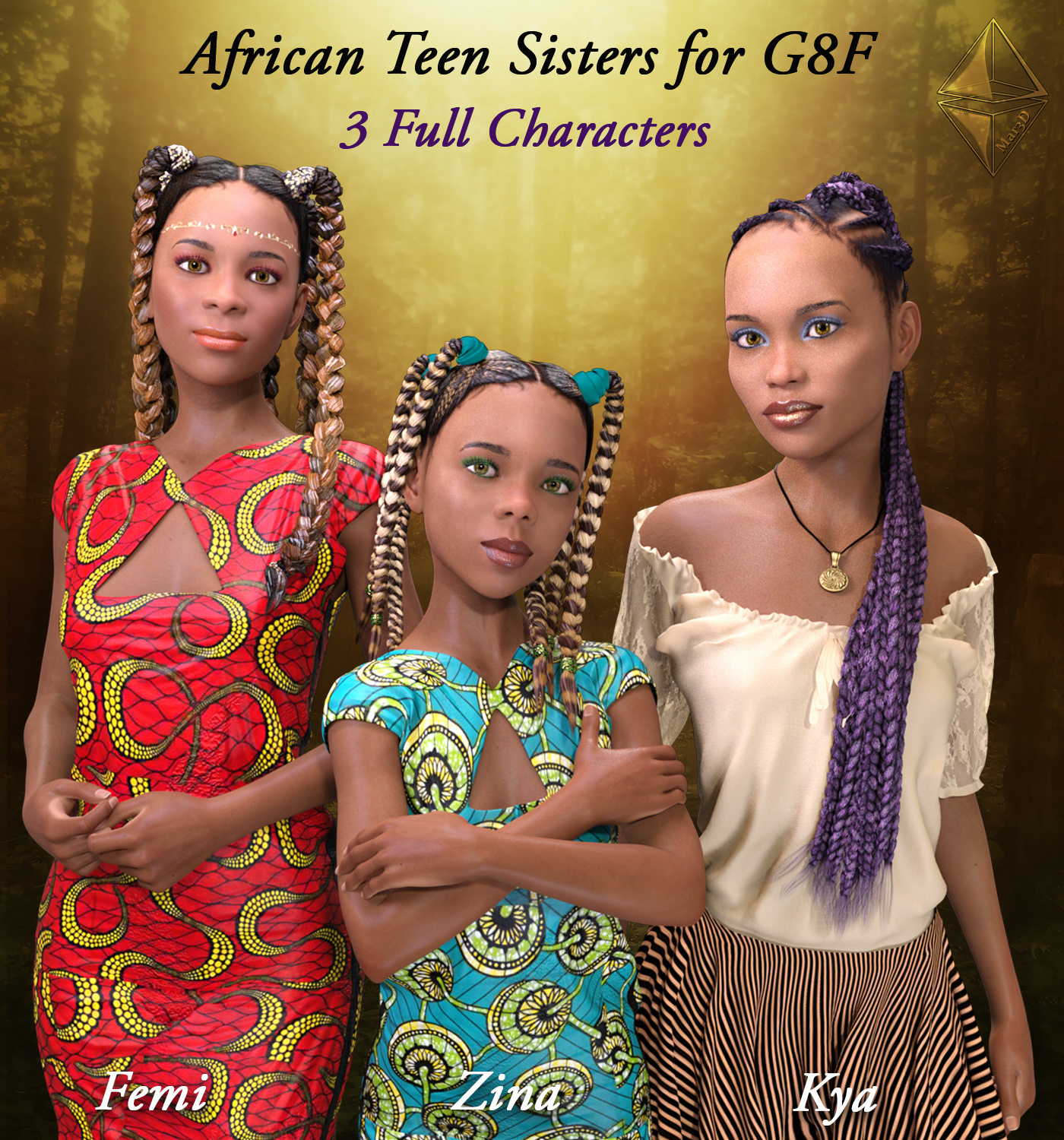 African Teen Sisters for G8F