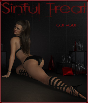 Sinful Treat 3D Figure Assets ilona