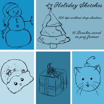Holiday Brushes - PNGs image 1