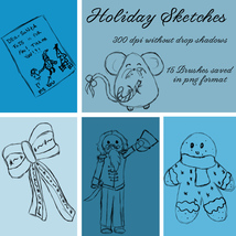 Holiday Brushes - PNGs image 3