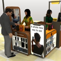 The Mall Phone repair Kiosk poses - Extended License image 2
