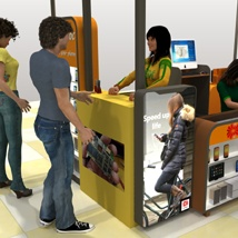 The Mall Phone repair Kiosk poses - Extended License image 5