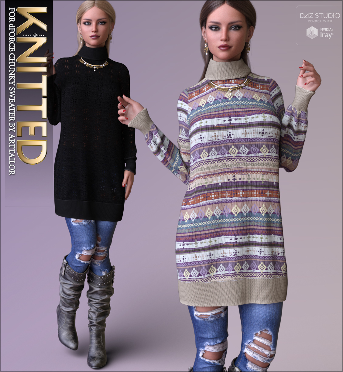 Knitted for dForce Chunky Sweater G8F by Sveva