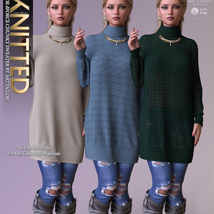 Knitted for dForce Chunky Sweater G8F image 9