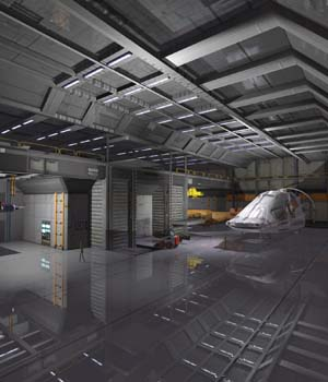 Shuttle Bay FBX - Extended License 3D Game Models : OBJ : FBX 3D Models Extended Licenses shawnaloroc