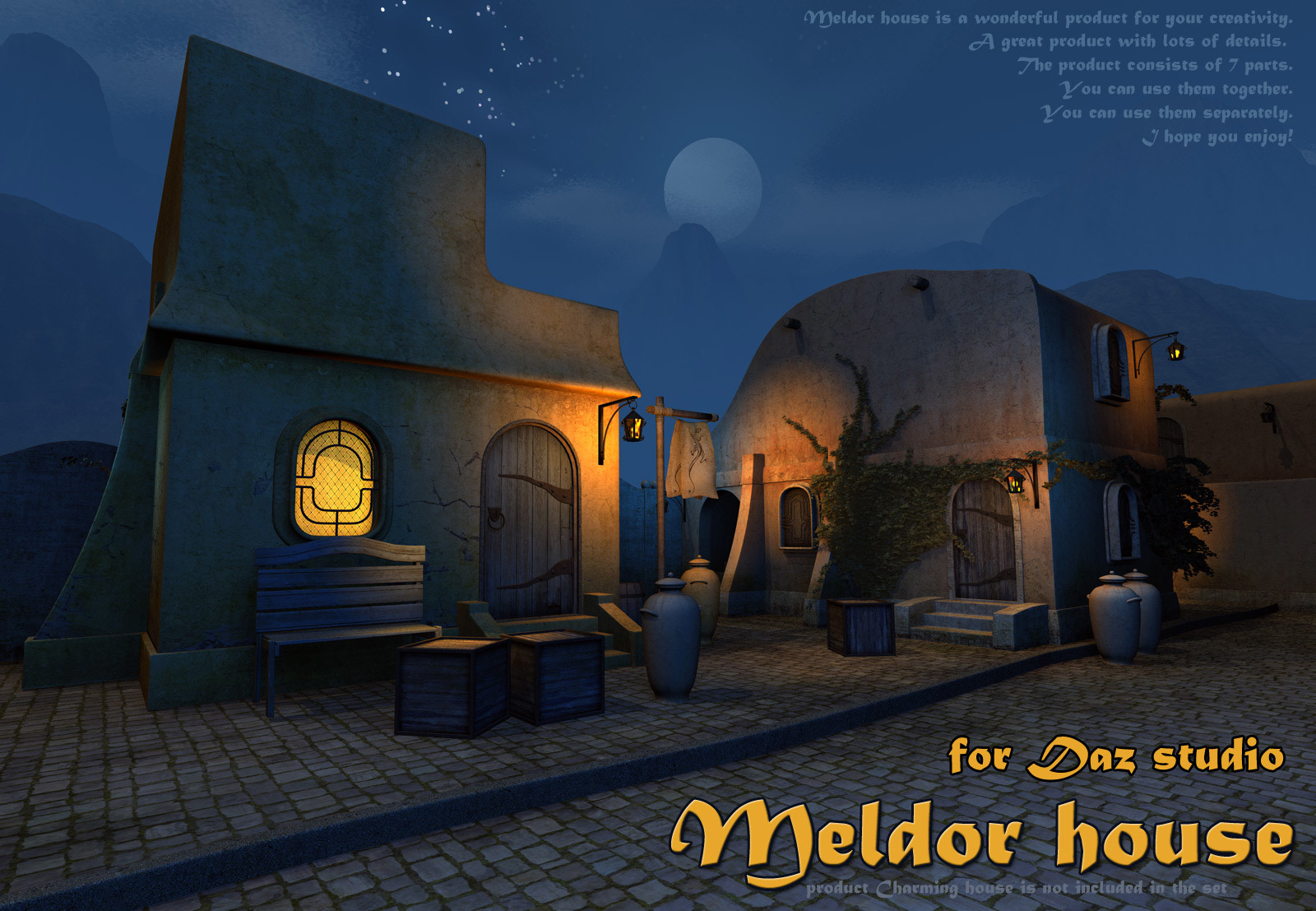 Meldor house for Daz Studio by 1971s