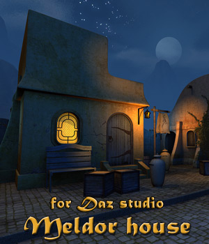 Meldor house for Daz Studio 3D Models 1971s