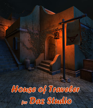 House of Traveler for Daz Studio 3D Models 1971s