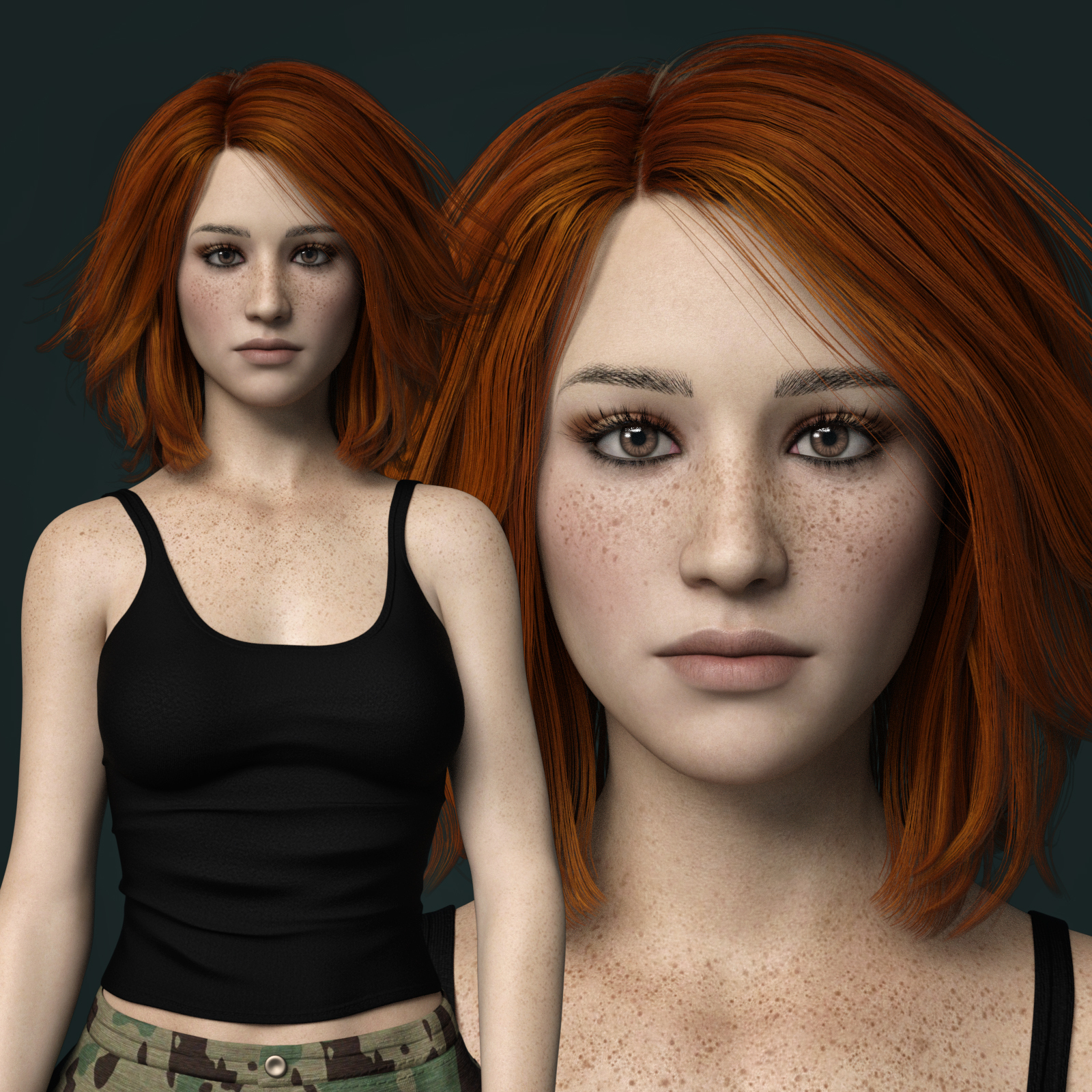 MbM Michelle for Genesis 3 and 8 Female by Heatherlly