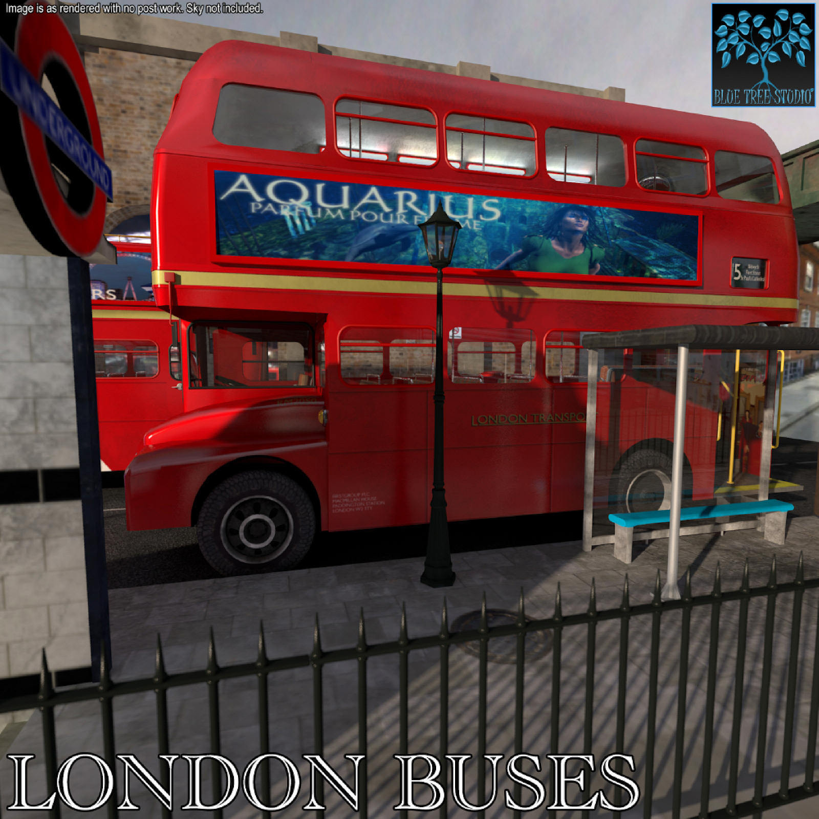 London Buses for Poser by BlueTreeStudio