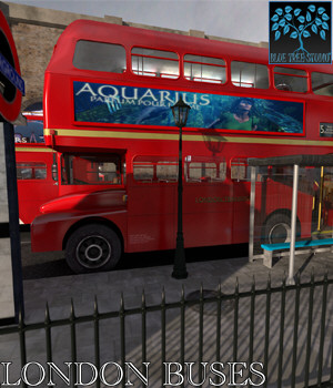 London Buses for Poser 3D Models BlueTreeStudio
