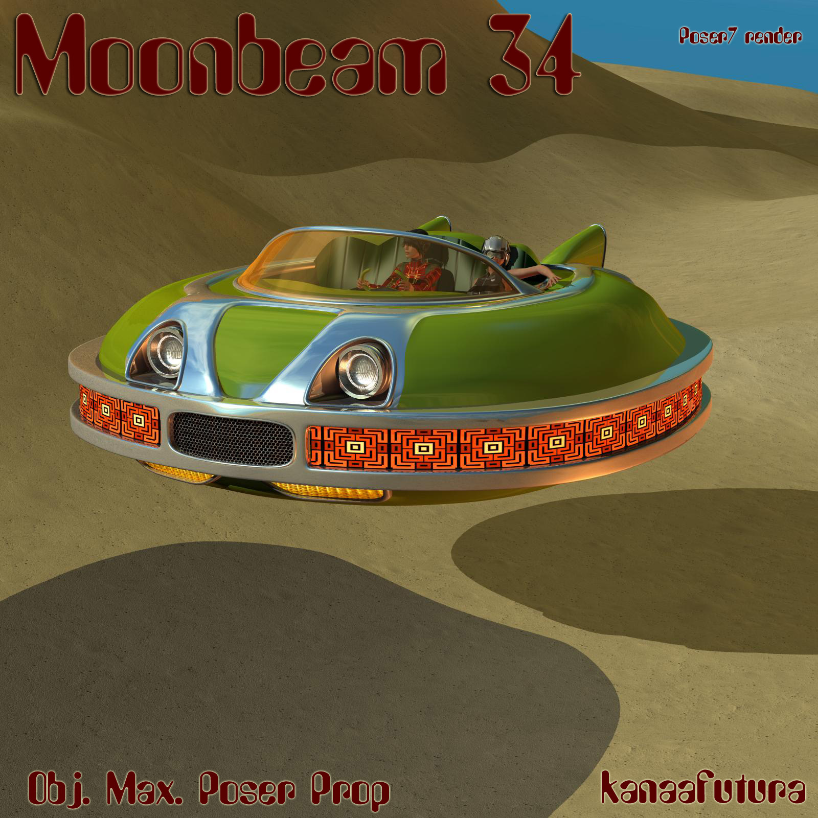 Moonbeam34 for Poser by kanaa