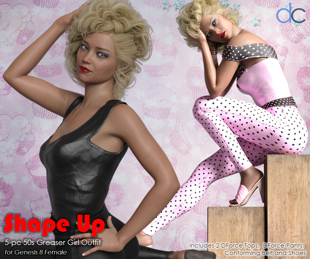 DC-Shape Up for Genesis 8 Female by Deecey