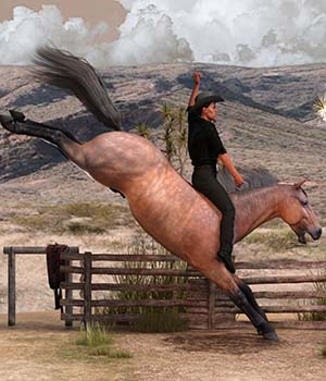 Horse And Rider Poses 3D Figure Assets ensary