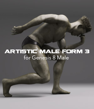 Artistic Male Form 3 for Genesis 8 Male 3D Figure Assets P7ArtJ5