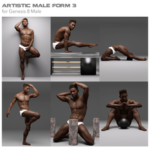 Artistic Male Form 3 for Genesis 8 Male image 3