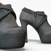 Female Leather Short Boots - Photoscanned PBR - Extended License image 1