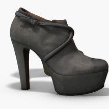 Female Leather Short Boots - Photoscanned PBR - Extended License image 7