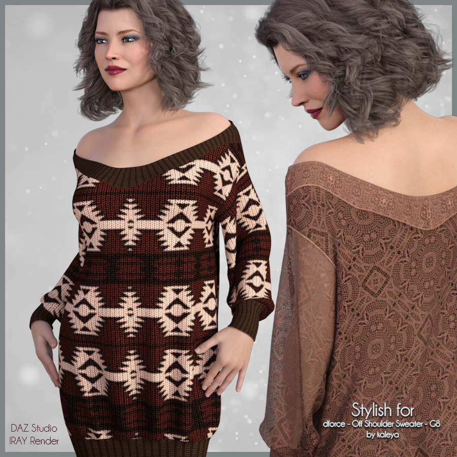 Stylish for Off Shoulder Sweater by adarling97