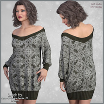 Stylish for Off Shoulder Sweater image 2