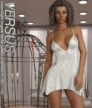 VERSUS - Sweet Night Lingerie Set for Genesis 8 Females 3D Figure Assets Anagord