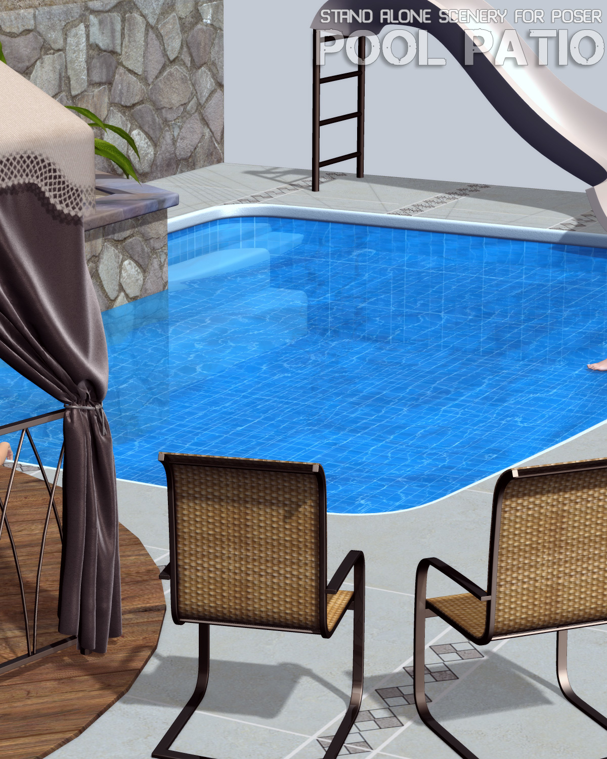 Pool Patio for Poser by lilflame
