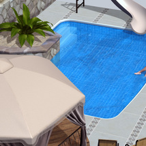 Pool Patio for Poser image 1