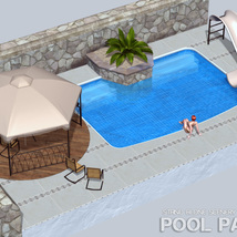Pool Patio for Poser image 4