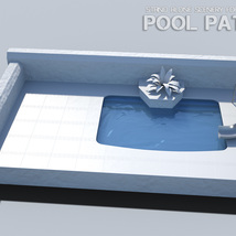 Pool Patio for Poser image 6