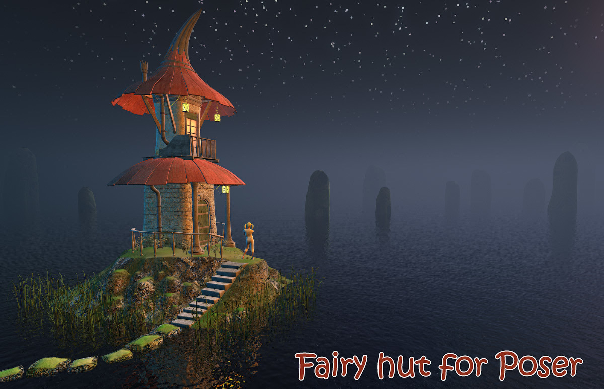 Fairy hut for Poser by 1971s