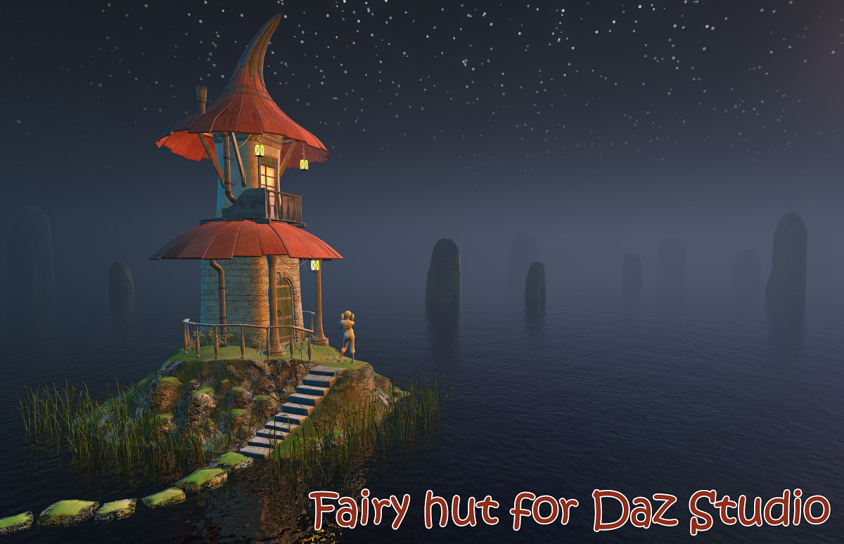 Fairy hut for Daz Studio by 1971s