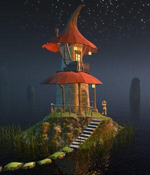 Fairy hut for Daz Studio 3D Models 1971s