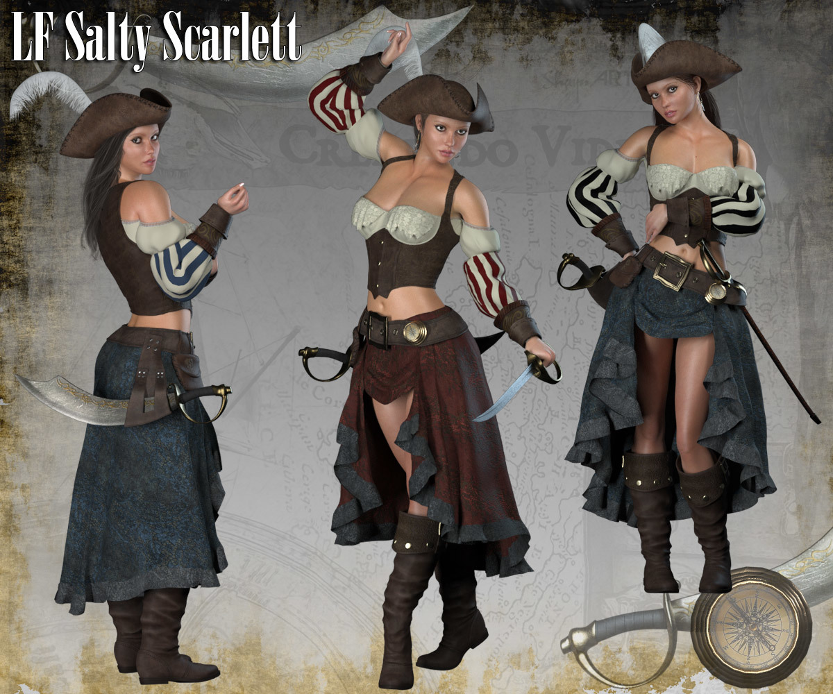 RP Salty Scarlett for La Femme and Poser Pro 11 by RPublishing
