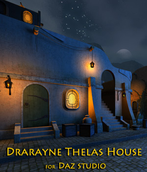 Drarayne Thelas House for Daz Studio 3D Models 1971s