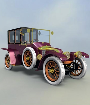 RENAULT TOWN CAR 1912 for VUE 3D Models 3DClassics