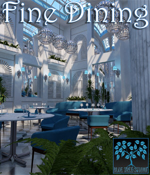 Fine Dining for Poser 3D Models BlueTreeStudio